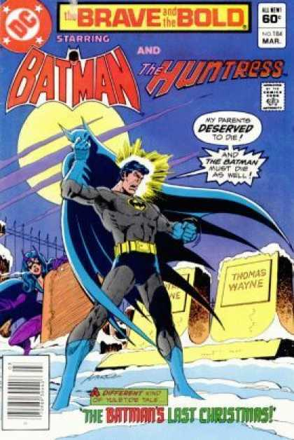 Brave and the Bold 184 - Deserved - Brave - Tombstone - Wayne - Christmas - Jim Aparo