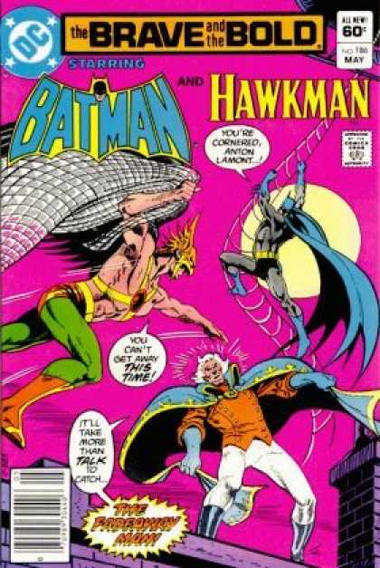 Brave and the Bold 186 - Batman - Hawkman - Anton Lamont - The Fadeaway Man - Rooftop - Jim Aparo