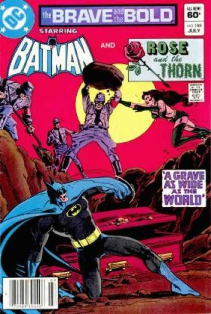 Brave and the Bold 188 - Batman - Rock Throw - Moon - Rose And The Thorn - Dc Comic - Jim Aparo