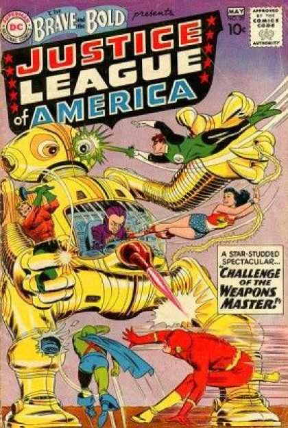 Brave and the Bold 29 - Dc - Justice League Of America - Challenge Of The Weapons Master - 10 Cents - May - Murphy Anderson