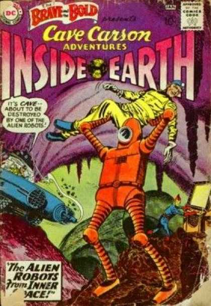 Brave and the Bold 33 - Cave Carson - Inside Earth - Alien Robots - Alien Robots From Inner Space - Space Suits