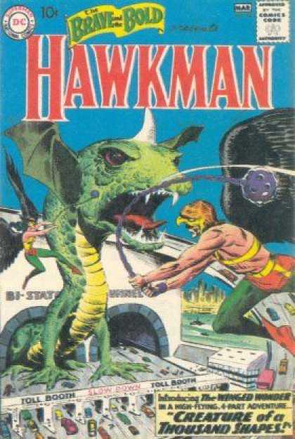 Brave and the Bold 34 - Hawkman - Chain - Hawkwoman - Creature Of A Thousand Shapes - Tunnel - Joe Kubert