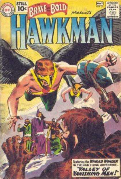 Brave and the Bold 35 - Hawkman - Primitive Weapon - Valley Of Vanishing Men - Caveman - Wizards - Joe Kubert