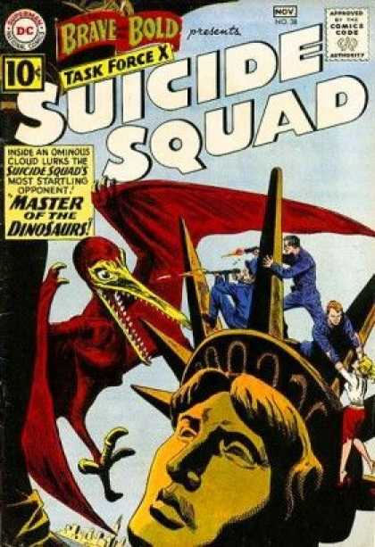 Brave and the Bold 38 - Suicide Squad - Master Of The Dinosaurs - Task Force X - Statue Of Liberty - Bird
