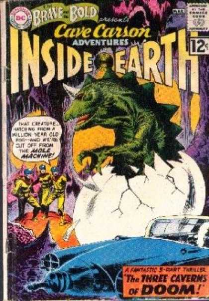 Brave and the Bold 40 - Inside Earth - Dinosaur - Egg - Cave Carson - Cavern - Joe Kubert