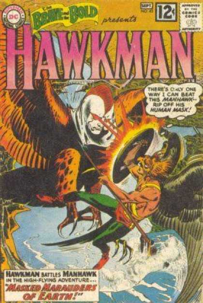 Brave and the Bold 43 - Dc Comics - Hawkman - Laser Eyes - Water - Man Hawk - Joe Kubert