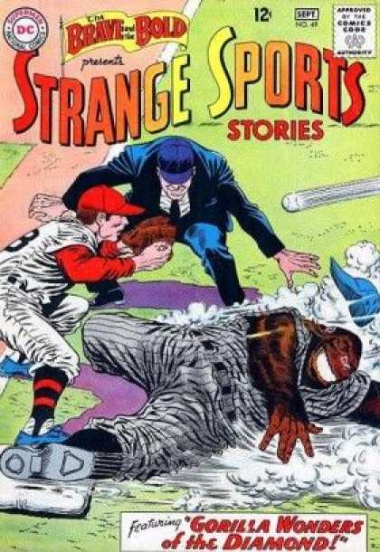 Brave and the Bold 49 - Baseball - Gorilla - Umpire - Catcher - Slide - Carmine Infantino, Murphy Anderson