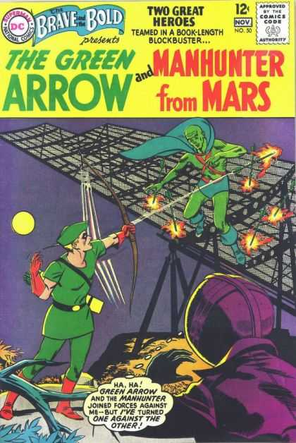 Brave and the Bold 50 - Green Arrow - Bow - Quiver - Arrows - Villain - George Roussos