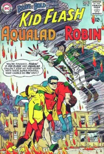 Brave and the Bold 54 - Kid Flash - Aqualad - Robin - Fire - Tornado