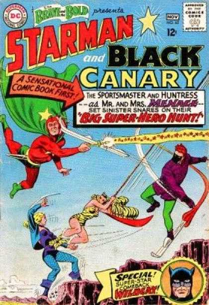 Brave and the Bold 62 - A Sensational Comic Book First - Bug Super-hero Hunt - Starman And The Black Canary - Wildcat - Sky - Murphy Anderson