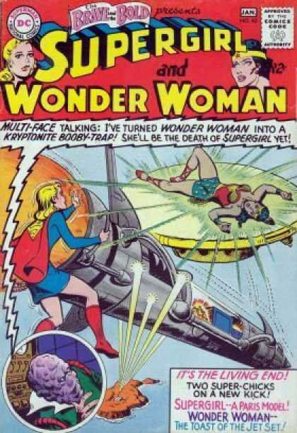 Brave and the Bold 63 - Supergirl - Wonder Woman - Multi-face - Kryptonite - Paris Model - Jim Mooney
