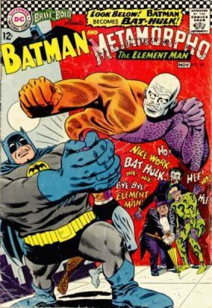 Brave and the Bold 68 - Comics Code - Batman - Metamorpho - Battle - Costume - Murphy Anderson