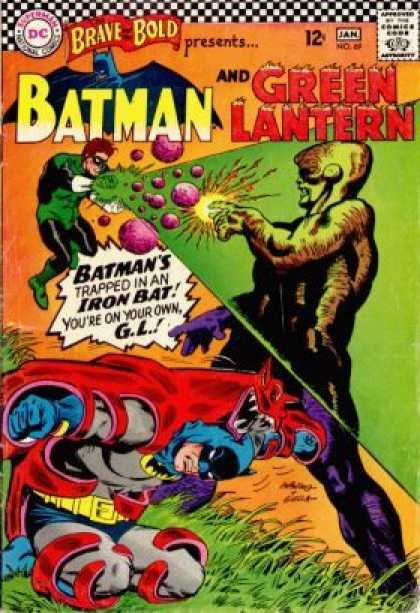 Brave and the Bold 69 - Brave Bold - Green Lantern - Trapped In A Iron Bat - Fight - War - Carmine Infantino