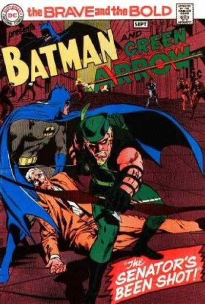 Brave and the Bold 85 - Cape - Fighting - Fire - Stick - Green - Neal Adams