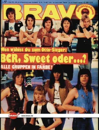Bravo - 47/76, 11.11.1976 - The Sweet, Bay City Rollers