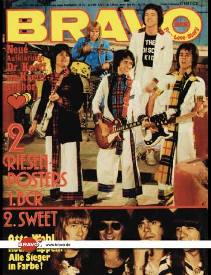Bravo - 04/77, 13.01.1977 - Bay City Rollers - The Sweet