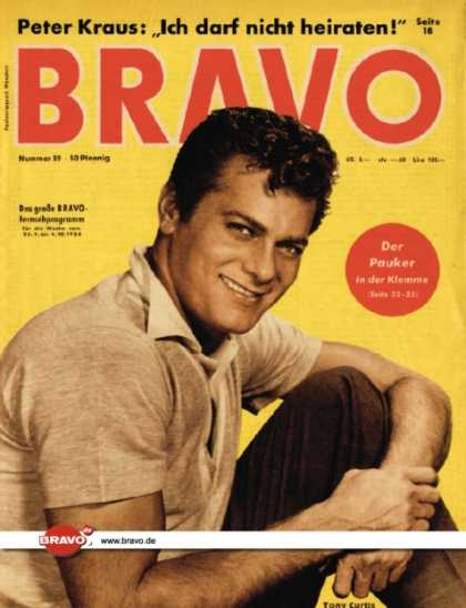 Bravo - 39/58, 23.09.1958 - Tony Curtis