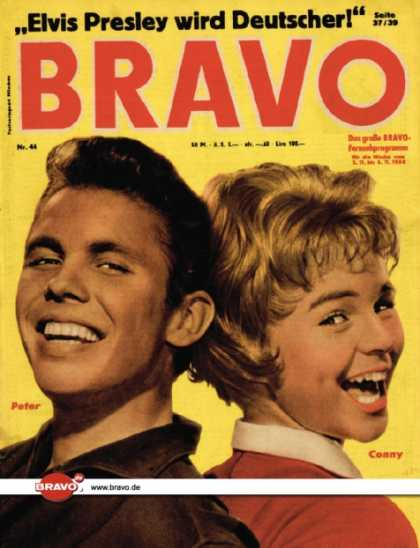 Bravo - 44/58, 28.10.1958 - Peter Kraus & Conny Froboess