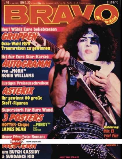 Bravo - 40/79, 27.09.1979 - Paul Stanley (KISS)