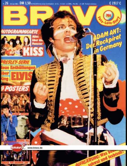 Bravo - 26/81, 18.06.1981 - Adam Ant (Adam & the Ants)