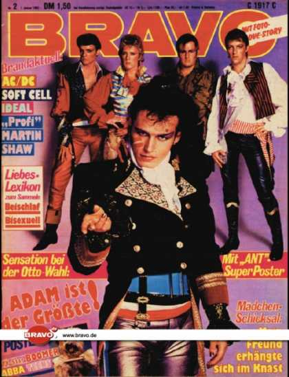 Bravo - 02/82, 07.01.1982 - Adam Ant (Adam & the Ants)