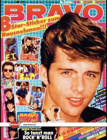 Bravo - 03/83, 13.01.1983 - Maxwell Caulfield (Grease 2, Film)