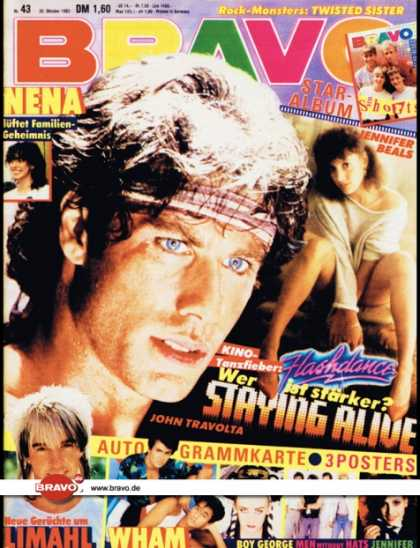 Bravo - 43/83, 20.10.1983 - John Travolta (Staying Alive, Film)