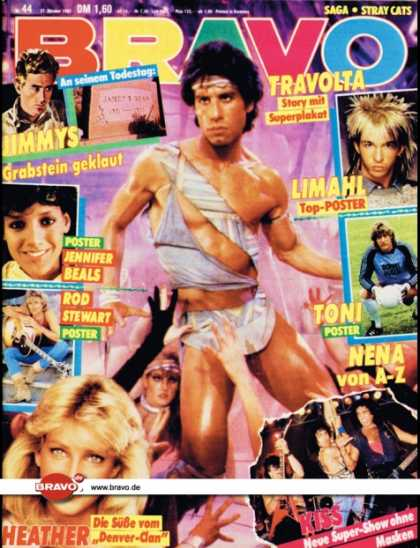 Bravo - 44/83, 27.10.1983 - John Travolta (Staying Alive, Film)