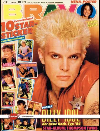 Bravo - 19/84, 03.05.1984 - Billy Idol