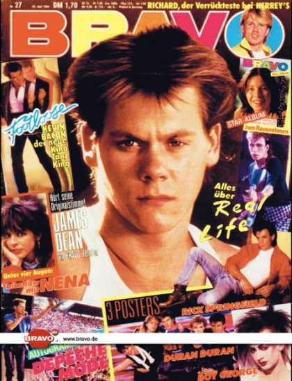 Bravo - 27/84, 28.06.1984 - Kevin Bacon (Footloose, Film)