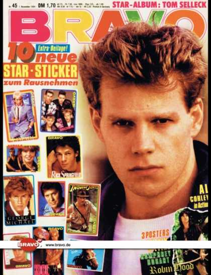 Bravo - 45/84, 01.11.1984 - Al Corley (Denver Clan, TV Serie)