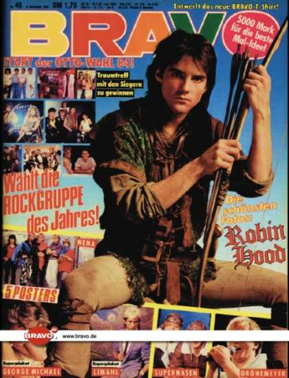 Bravo - 46/84, 08.11.1984 - Michael Praed (Robin Hood, TV Serie)