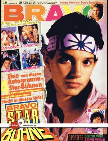Bravo - 51/84, 13.12.1984 - Ralph Macchio (Karate Kid, Film)