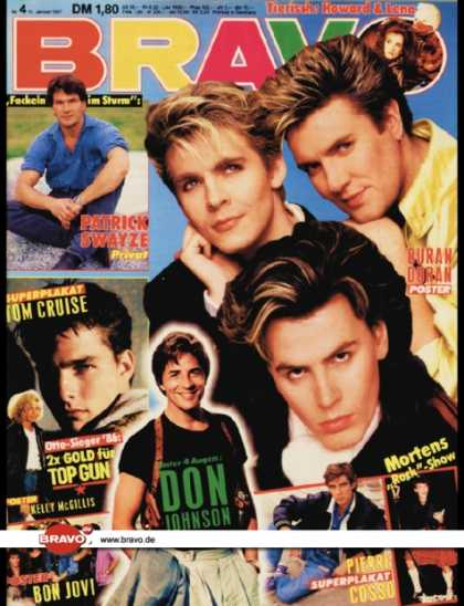 Bravo - 04/87, 15.01.1987 - Duran Duran - Don Johnson (Miami Vice, TV Serie)