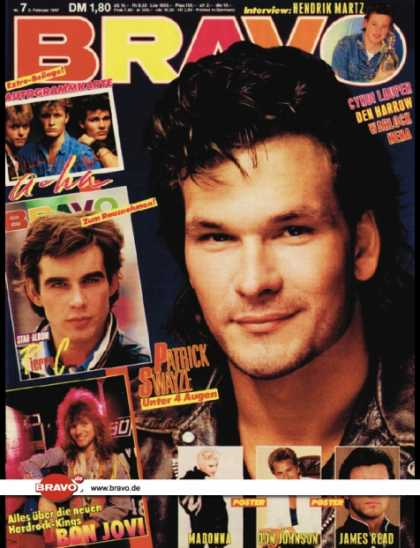 Bravo - 07/87, 05.02.1987 - Patrick Swayze (Dirty Dancing, Film)