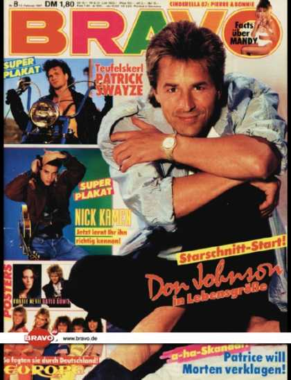Bravo - 08/87, 12.02.1987 - Don Johnson (Miami Vice, TV Serie)