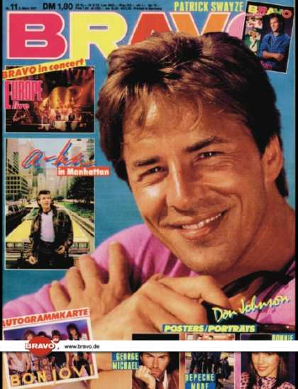 Bravo - 11/87, 05.03.1987 - Don Johnson (Miami Vice, TV Serie)