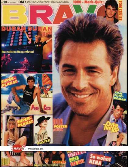 Bravo - 18/87, 23.04.1987 - Don Johnson (Miami Vice, TV Serie)