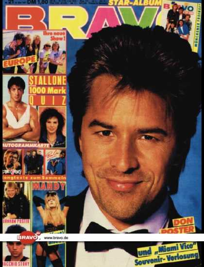 Bravo - 21/87, 14.05.1987 - Don Johnson (Miami Vice, TV Serie)