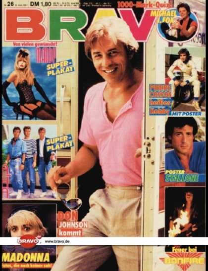 Bravo - 26/87, 16.06.1987 - Don Johnson (Miami Vice, TV Serie)