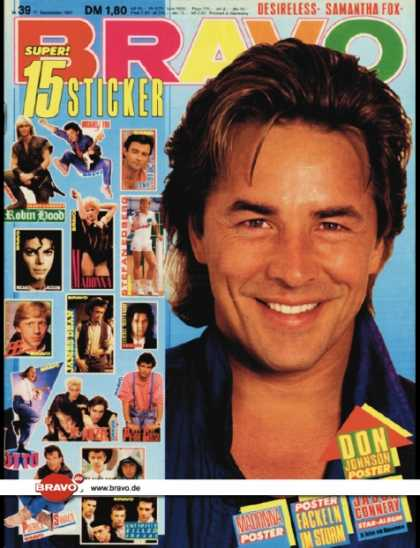 Bravo - 39/87, 17.09.1987 - Don Johnson (Miami Vice, TV Serie)