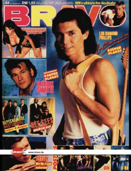 Bravo - 44/87, 22.10.1987 - Lou Diamond Phillips (La Bamba, Film)