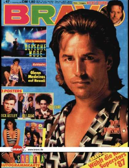 Bravo - 47/87, 12.11.1987 - Don Johnson (Miami Vice, TV Serie)