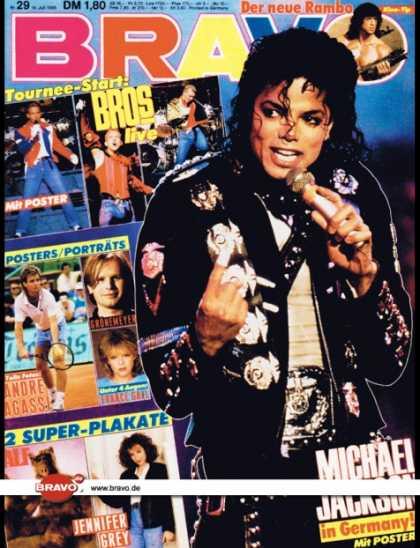 Bravo - 29/88, 14.07.1988 - Michael Jackson - Sylvester Stallone (Rambo, Film) - Bros
