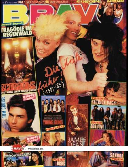Bravo - 07/89, 09.02.1988 - Die Ärzte - Scorpions - Europe - James Dean