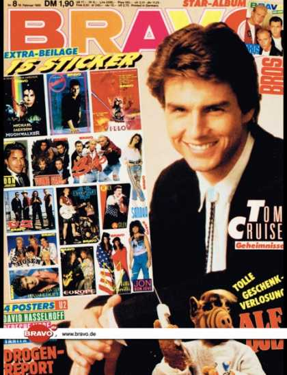 Bravo - 08/89, 16.02.1988 - Tom Cruise - Bros - Alf (TV Serie)