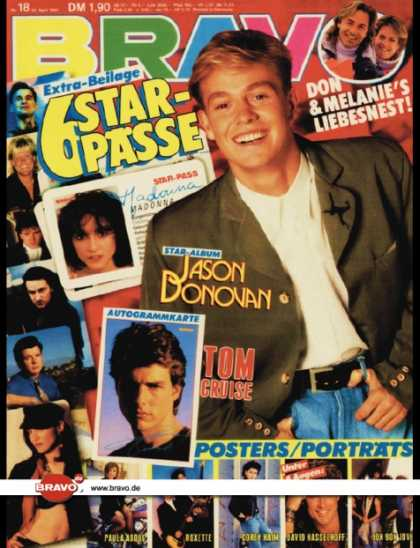 Bravo - 18/89, 26.04.1989 - Jason Donovan - Don Johnson, Melanie Griffith
