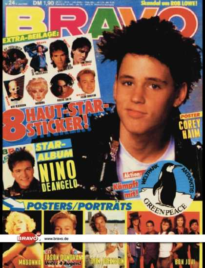Bravo - 24/89, 08.06.1989 - Corey Haim (The Lost Boys, Film)