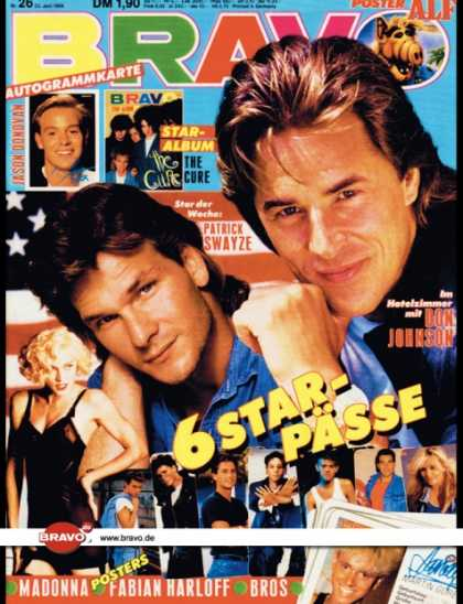 Bravo - 26/89, 22.06.1989 - Don Johnson (Miami Vice, TV Serie), Patrick Swayze