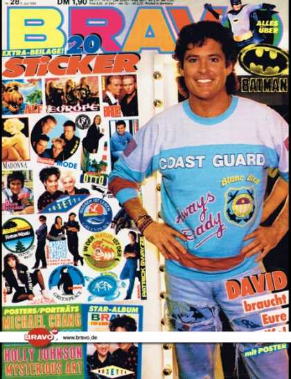 Bravo - 28/89, 06.07.1989 - David Hasselhoff - Batman (Film)